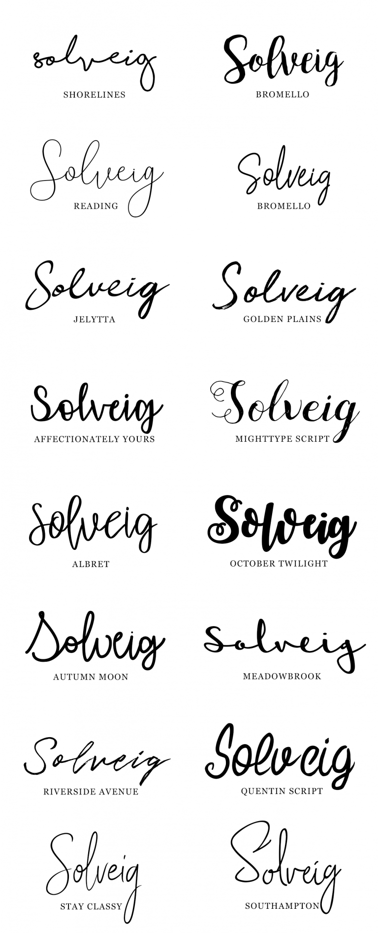 18 gratis handgeschreven lettertypes